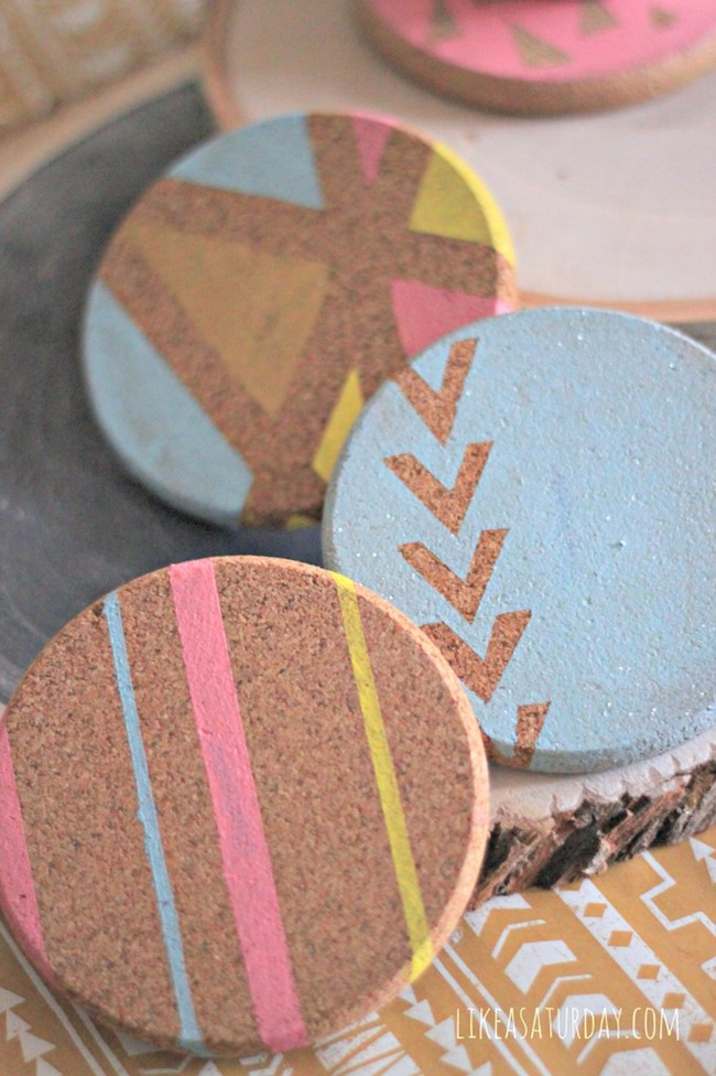Spring crafts for Cork coasters for crafts