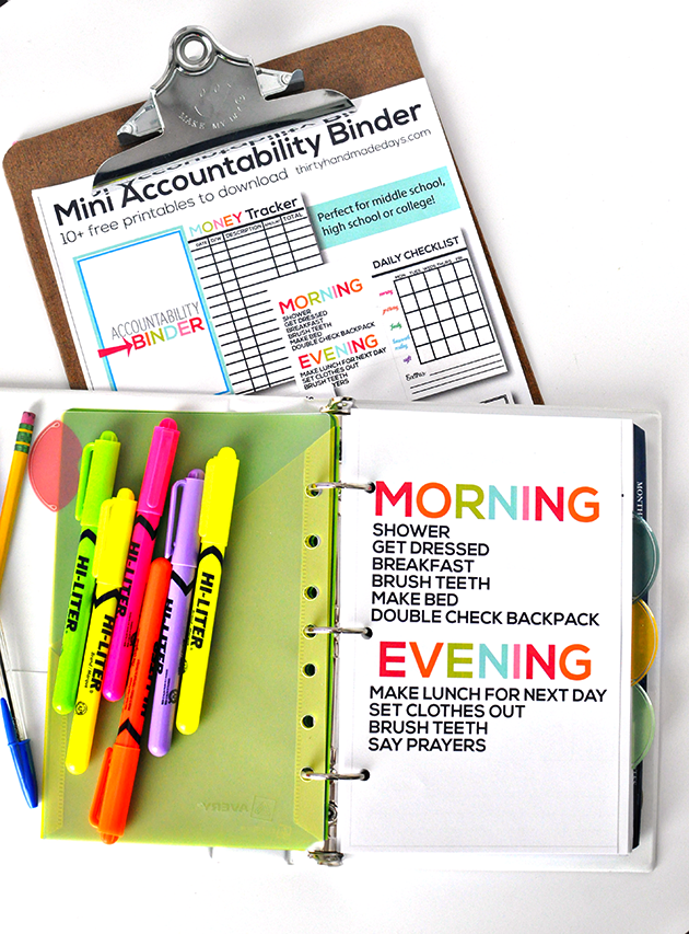 Student Accountability Binder