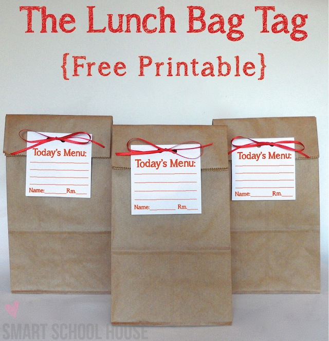 The Lunch Bag Tag