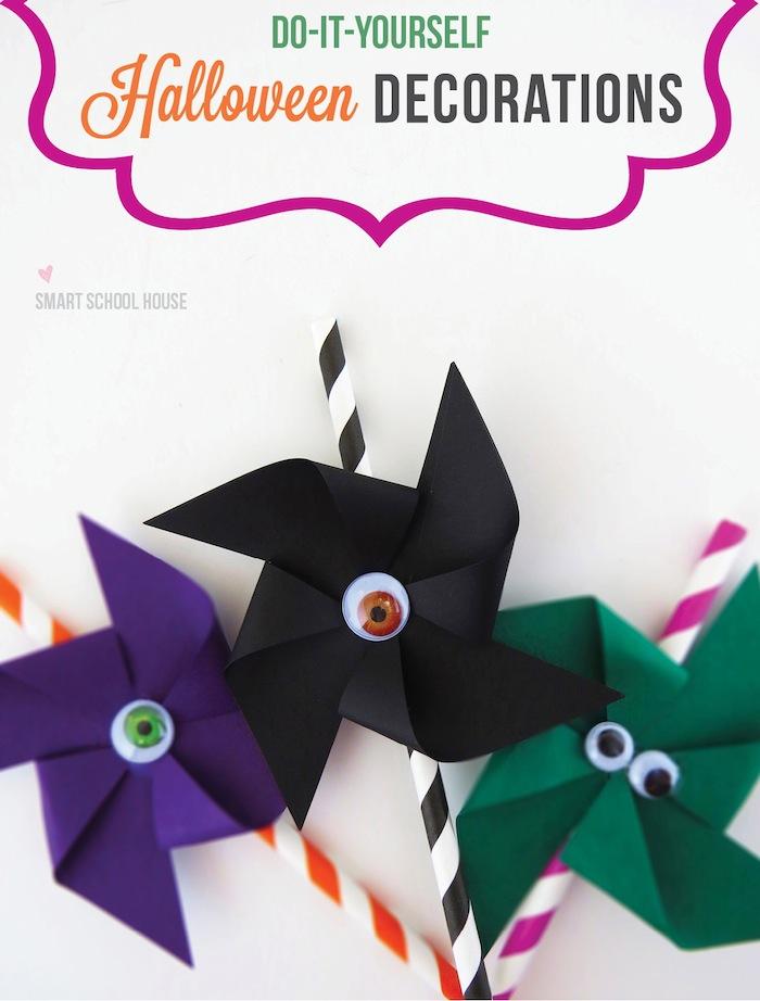 How to make spooky Halloween pinwheels