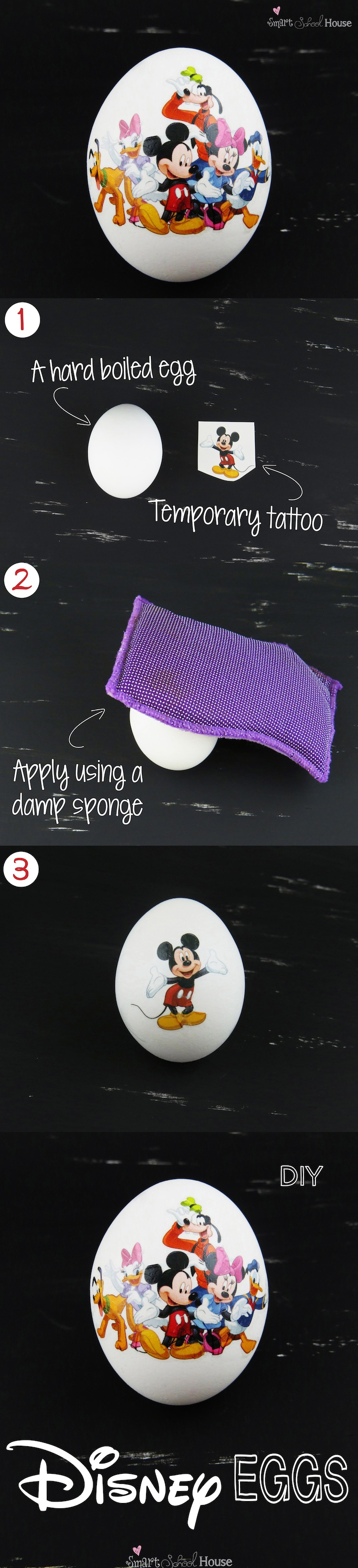 Disney Decorated Eggs by Smart School House  #disney