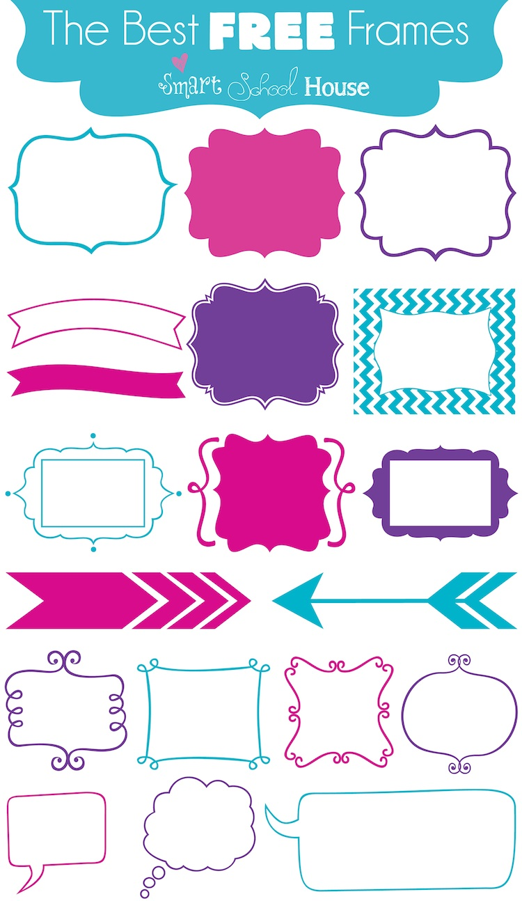 The Best Free Frames (font download)