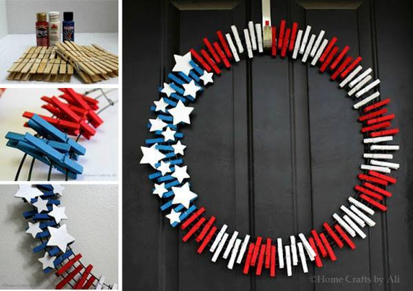 Patriotic wreath idea