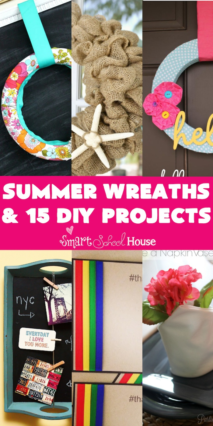 Summer wreaths and diy projects smart school house for Diy summer wreath