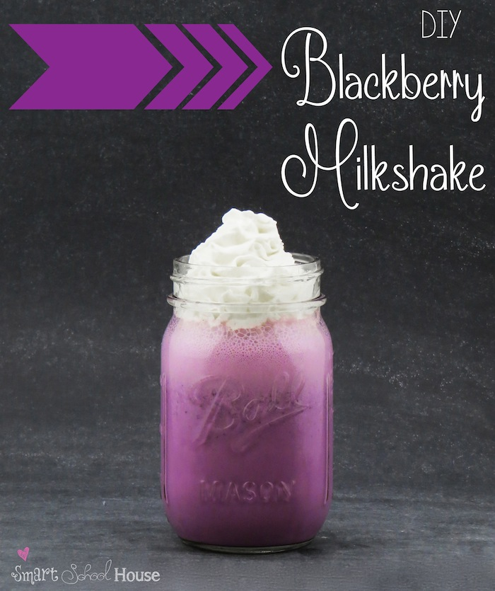 Recipe for a Milkshake: Blackberries and Ice Cream!