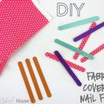 DIY Fabric Covered Nail Files