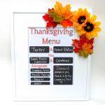 Thanksgiving Menu and Printable