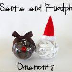 Santa & Rudolph Ornaments