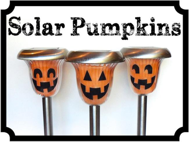 diy solar pumpkins - Solar Halloween Decorations