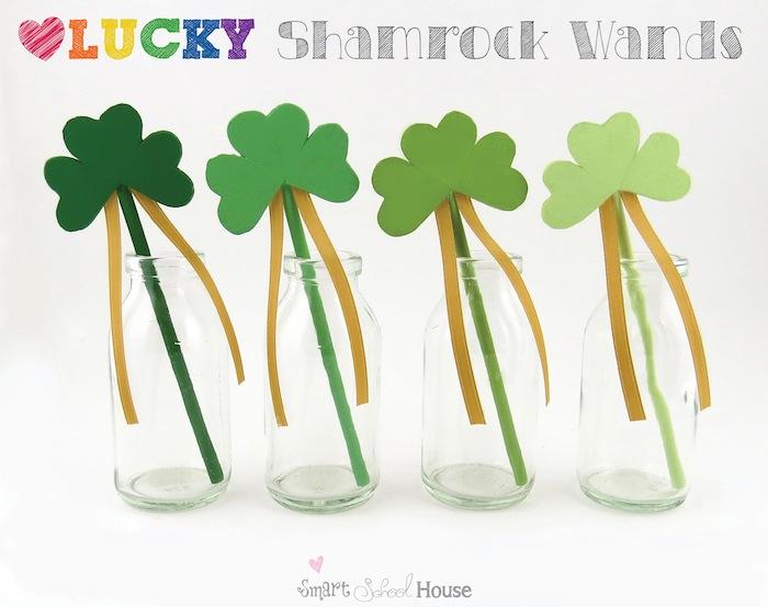 Lucky Shamrock Wands