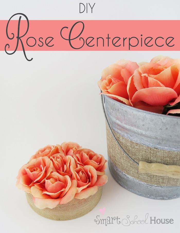 DIY Rose Centerpiece