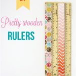 Pretty Wooden Rulers
