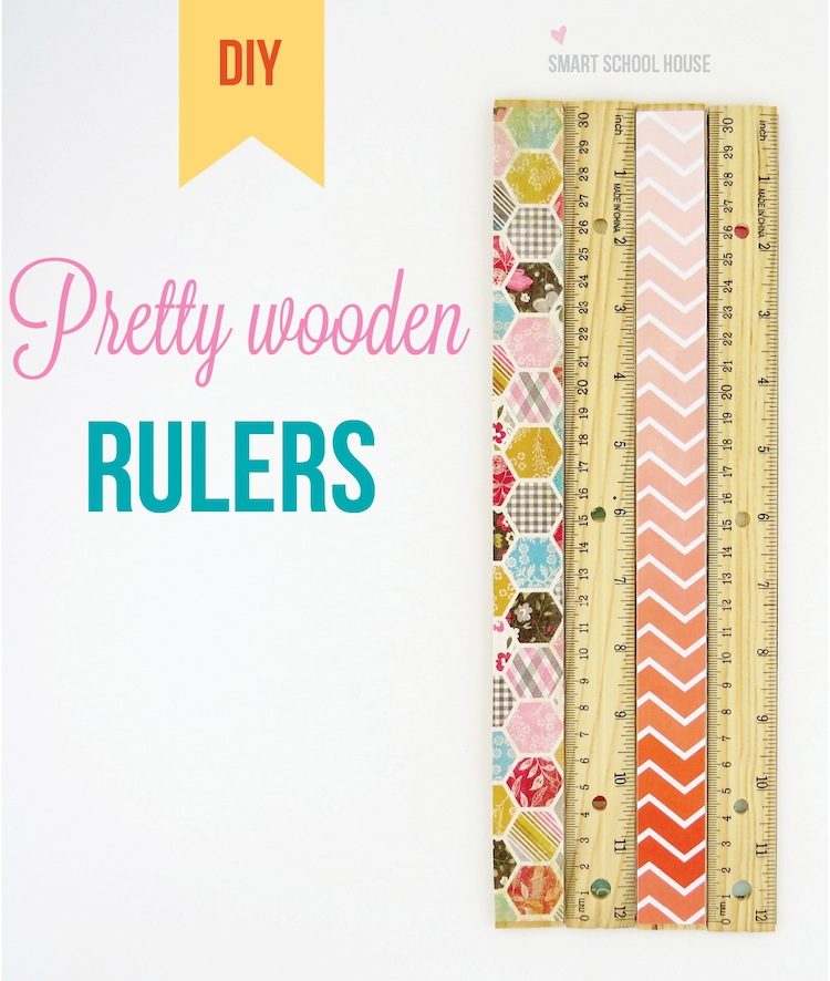 #DIY Pretty Wooden Rulers that 20 minutes to make. An easy teacher gift that can be made by a student!