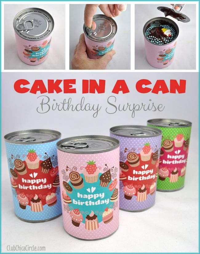 Cake in a Can Birthday Surprise