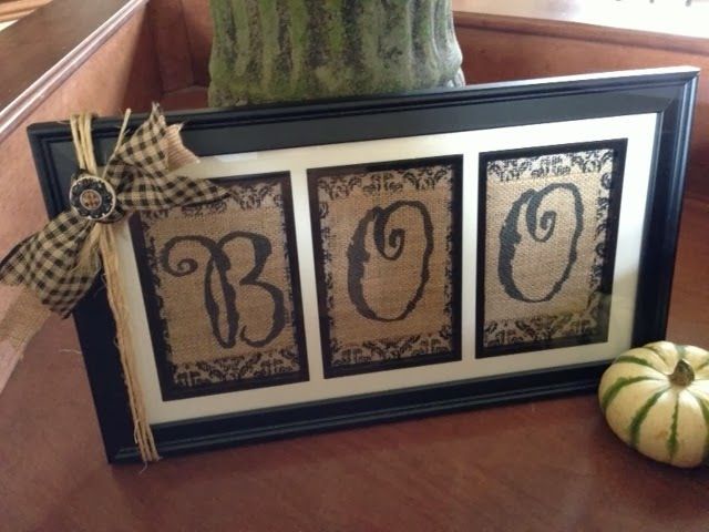 Burlap Boo Display