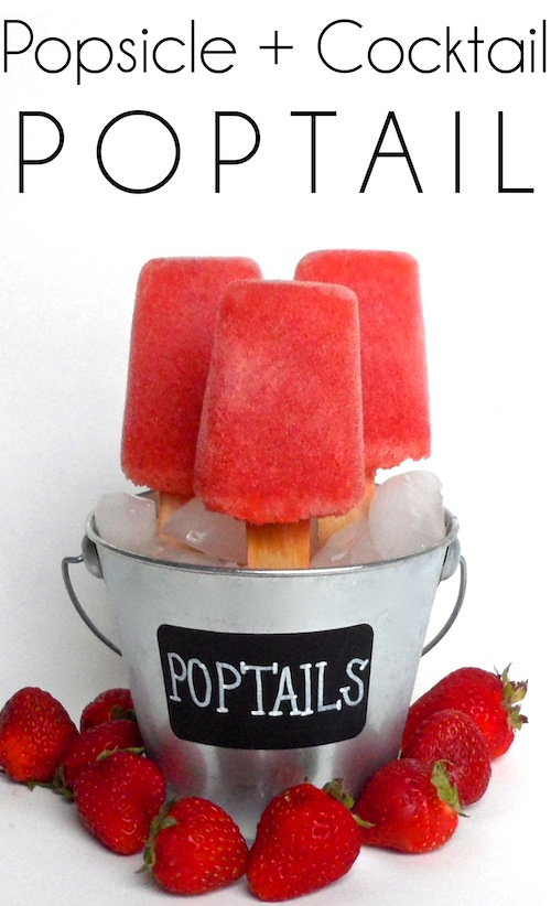 Poptail (Popsicle + Cocktail) by Smart School House #cocktail #poptail