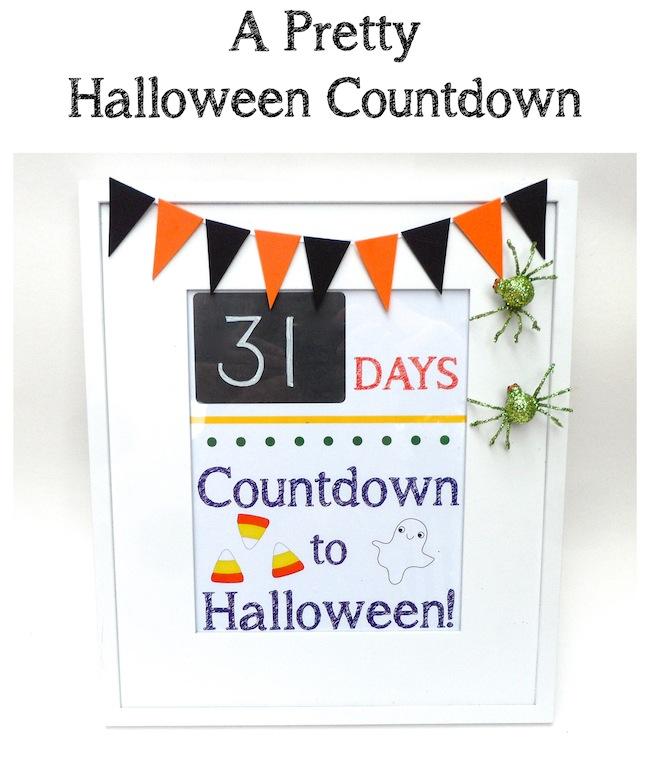 DIY Halloween Countdown Magnet Frame