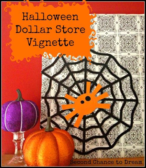 Halloween Dollar Store Vignette