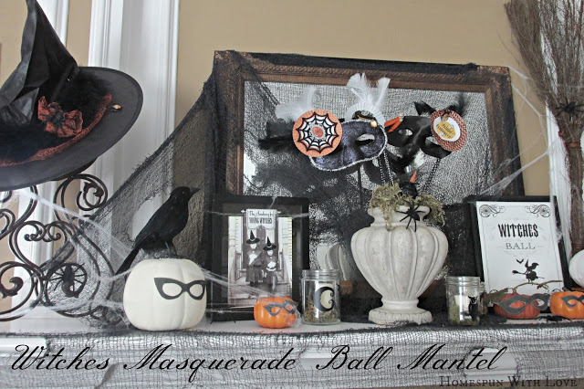 Masquerade Witches Mantel