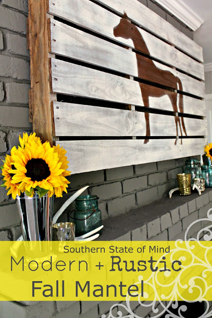 Modern Rustic Horse Mantel