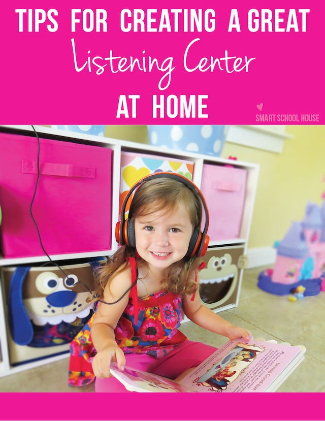 Teaching toddlers with a listening center