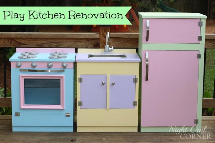 Play Kitchen Renovation By Night Owl Corner