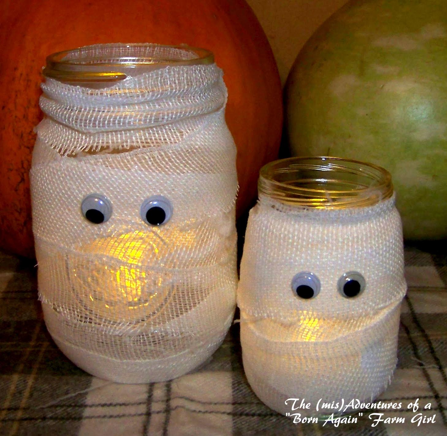 DIY Mummy Candle Jar