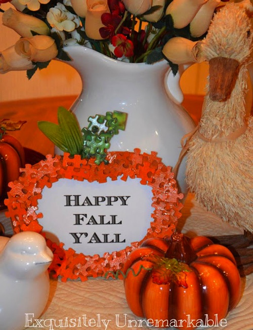 Puzzle Piece Pumpkin Display