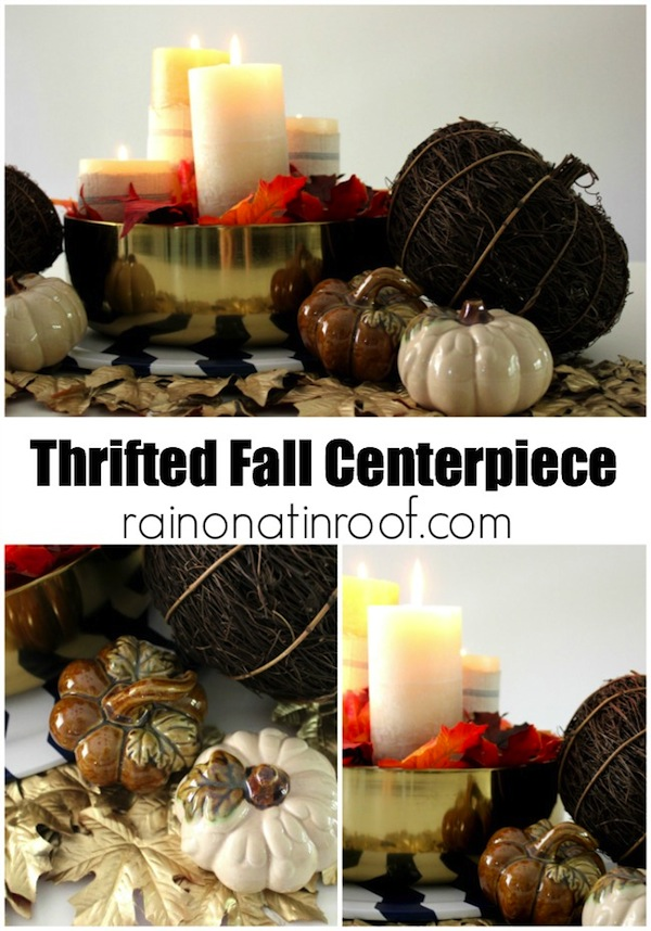 Thrifted Fall Centerpiece