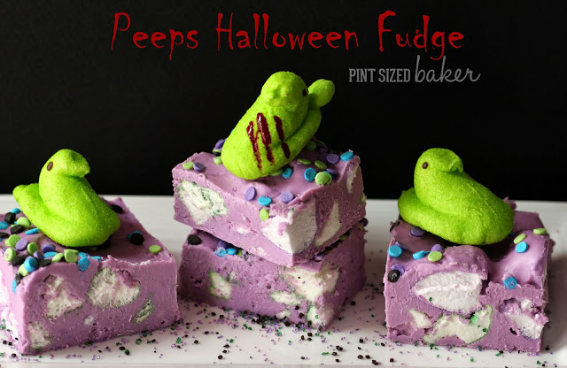 Peeps Halloween Fudge