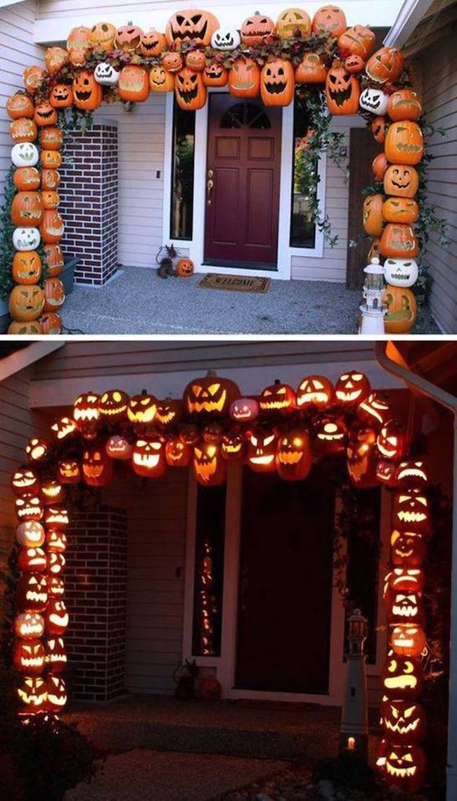 How to make a pumpkin arch for Halloween