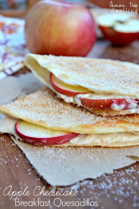 Apple Cheesecake Breakfast Quesadillas