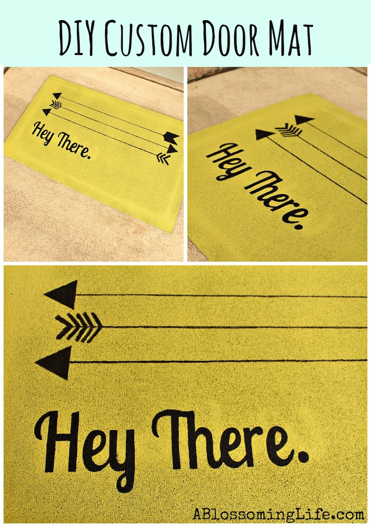 DIY Custom Door Mat by A Blossoming Life on Smart School House