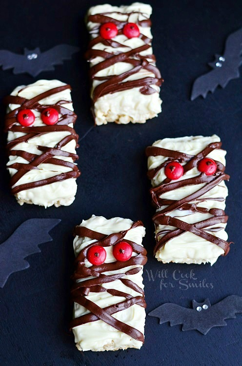 Double Chocolate Rice Krispie Mummies