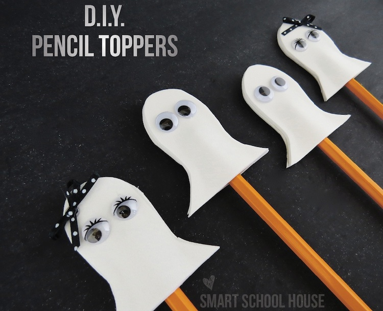 Halloween Crafts and Ghost Pencil Toppers