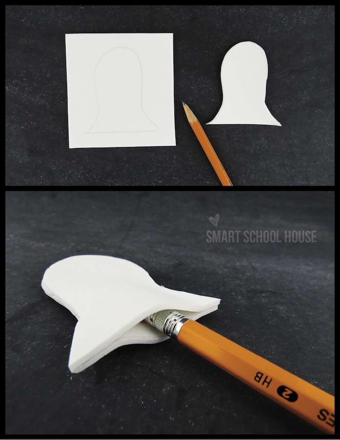 How to make a Ghost Pencil Topper