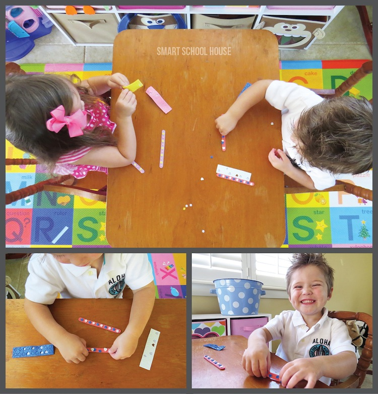 Practicing Fine Motor Development through Kids Crafts #PomTreeKids