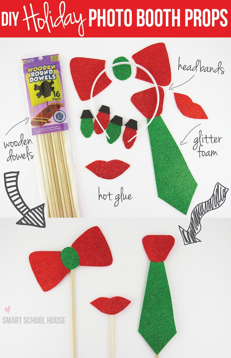 Christmas Photo Booth Props Template Diy holiday photo booth props