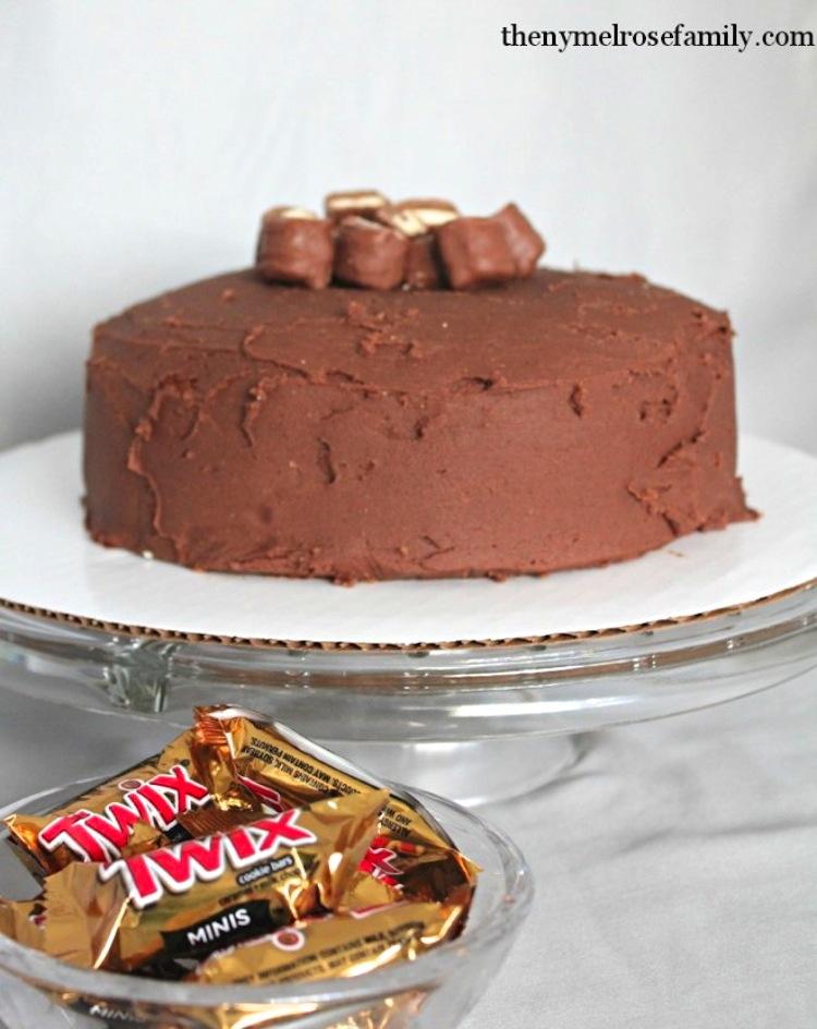 Twix Leftover Candy Cake