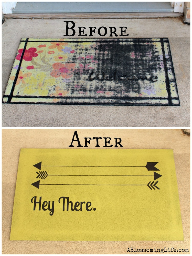 Superieur DIY Custom Door Mat By A Blossoming Life On Smart School House