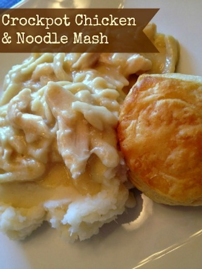 Crockpot Chicken & Noodle Mash