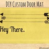 DIY Custom Door Mat