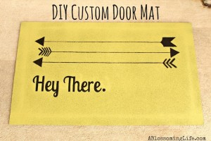 AMY: DIY Custom Door Mat