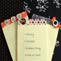 Halloween Ideas: DIY Notepads