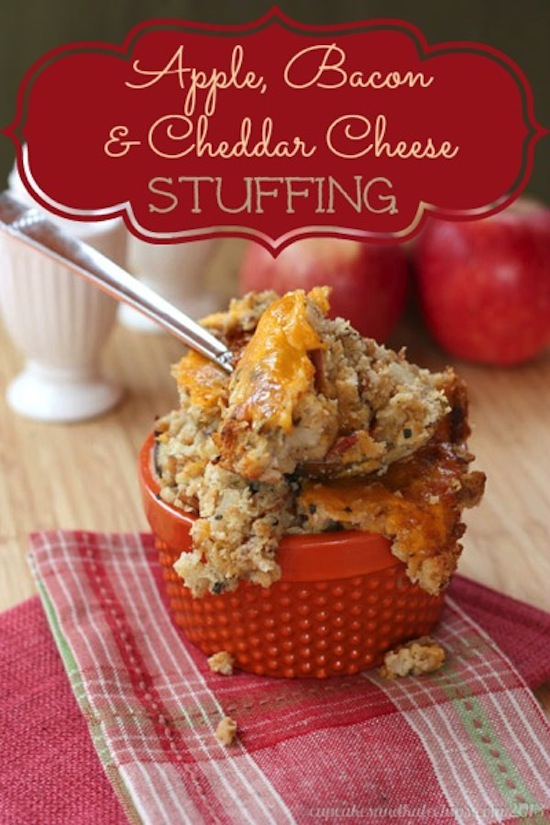 Apple, Bacon, and Cheddar Cheese Stuffing