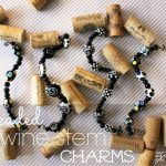 Beaded Wine Stem Charms