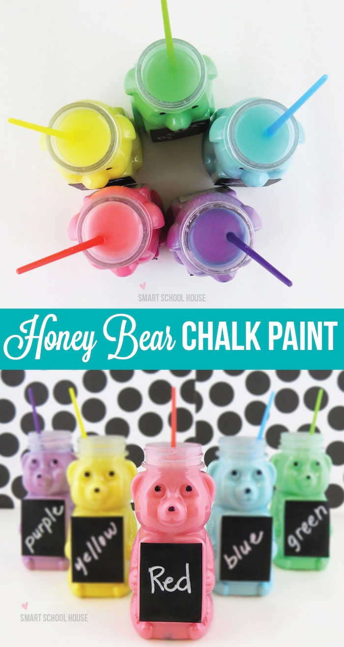 Honey Bear Chalk Paint Recipe #DIY #CartersHoliday