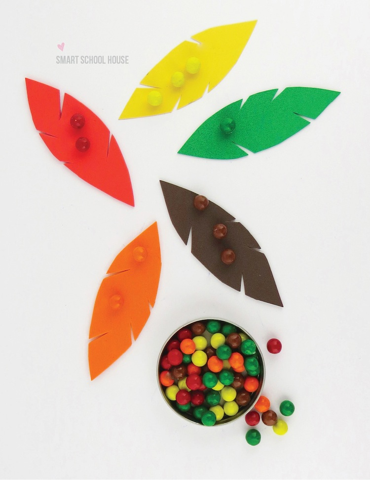 Thanksgiving Color Sorting Activity for Kids