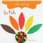 Thanksgiving Color Sorting for Kids
