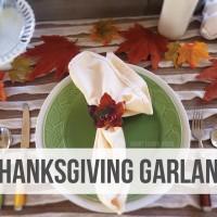 Thanksgiving Craft: Table Garland